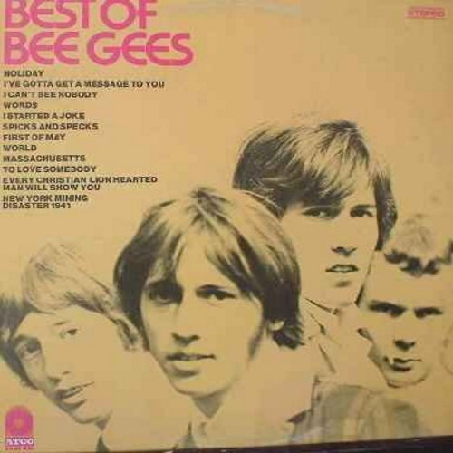Bee Gees - Best Of Bee Gees: I Started A Joke, Massachusetts, To Love Somebody, New York Mining Disaster 1941 (Vinyl STEREO LP record, yellow label first issue) - EX8/VG7 - LP Records