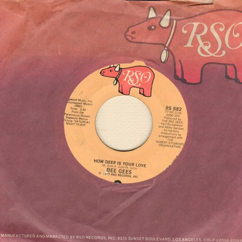 Bee Gees - How Deep Is Your Love/Can't Keep A Good Man Down - EX8/ - 45 rpm Records