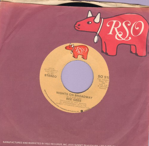 Bee Gees - Nights On Broadway/Edge Of The Universe (with RSO company sleeve) - EX8/ - 45 rpm Records