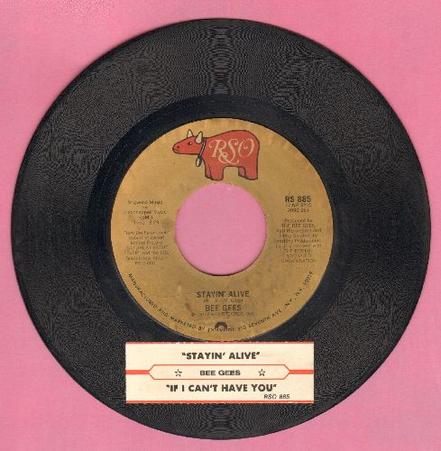Bee Gees - Stayin' Alive/If I Can't Have You (with juke box label) - NM9/ - 45 rpm Records