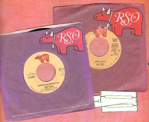 Bee Gees - 2 for 1 Special: Night Fever/Nights On Broadway (2 vintage first issue 45rpm records with RSO company sleeves for the price of 1 with 3 blank juke box labels) - NM9/ - 45 rpm Records