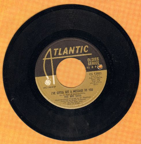 Bee Gees - I've Gotta Get A Message To You/To Love Someone (double-hit re-issue)(bb) - NM9/ - 45 rpm Records