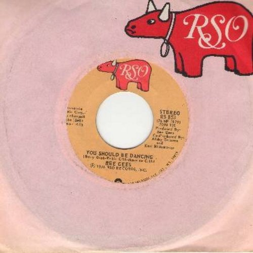 Bee Gees - You Should Be Dancing/Subway (with RSO company sleeve) - EX8/ - 45 rpm Records