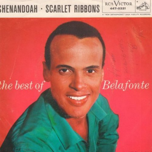 Belafonte, Harry - Shenandoah/Sarlet Ribbons (with picture sleeve) - NM9/EX8 - 45 rpm Records
