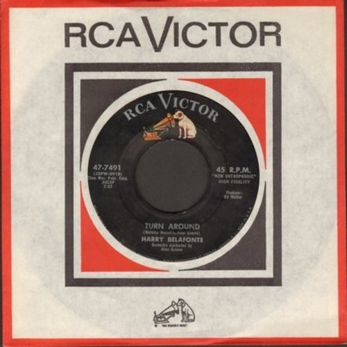 Belafonte, Harry - Turn Around/Darlin' Cora (with RCA company sleeve) - NM9/ - 45 rpm Records