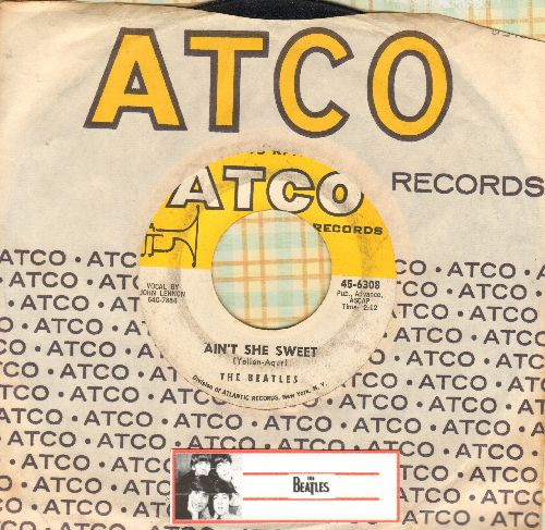 Beatles - Ain't She Sweet/Nobody's Child (with Atco company sleeve) - VG6/ - 45 rpm Records