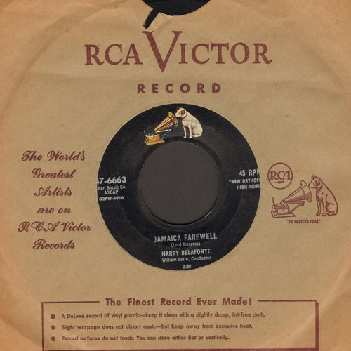Belafonte, Harry - Jamaica Farewell/Once Was (with vintage RCA company sleeve) - EX8/ - 45 rpm Records