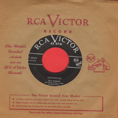 Belafonte, Harry - Shenandoah/Sarlet Ribbons (with vintage RCA company sleeve) - VG7/ - 45 rpm Records