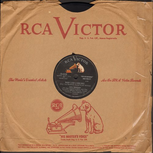 Belafonte, Harry - Mama Look At Bubu/Don't Ever Love Me (10 inch 78rpm record) - EX8/ - 78 rpm