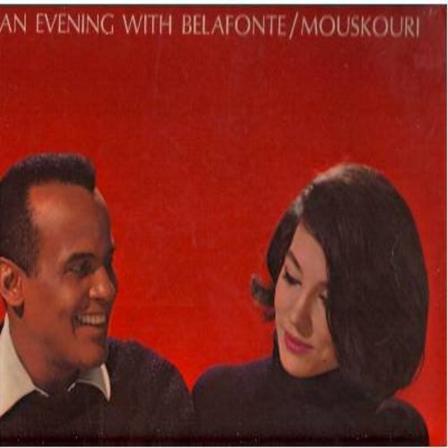 Belafonte, Harry, Nana Mouskouri - An Evening With Belafonte/Mouskouri: My Moon, Dream, The Train, The Wide Sea, Irene (Vinyl STEREO LP record) - EX8/EX8 - LP Records