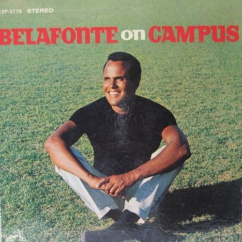 Belafonte, Harry - Belafonte On Campus: Delia, The First Time Ever I Saw Your Face, The Far Side Of The Hill (vinyl STEREO LP record, Dynagroove pressing) - NM9/NM9 - LP Records