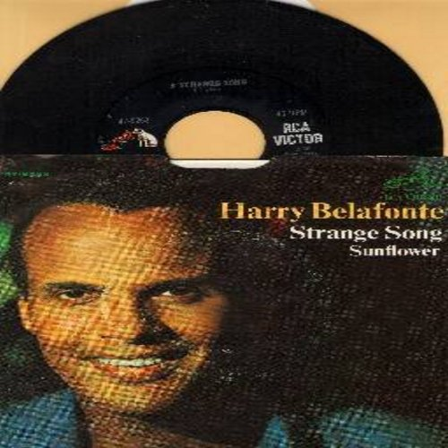 Belafonte, Harry - Strange Song/Sunflower (with picture sleeve) - NM9/EX8 - 45 rpm Records