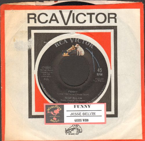Belvin, Jesse - Guess Who/Funny (with vintage RCA company sleeve and juke box label) - NM9/ - 45 rpm Records
