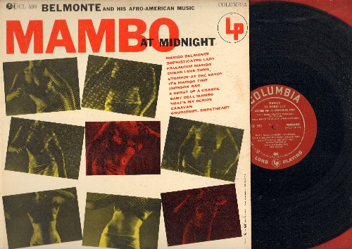 Belmonte & His Orchestra with Bernadine Read - Mambo At Midnight: Baby Doll Mambo, Caravan, Johnson Rag, Palladium Mambo, Stompin' At The Savoy (vinyl MONO LP record) - NM9/EX8 - LP Records