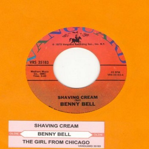 Bell, Benny - Shaving Cream (CLASSIC NOVELTY SONG!)/The Girl From Chicago (with juke box label) - NM9/ - 45 rpm Records