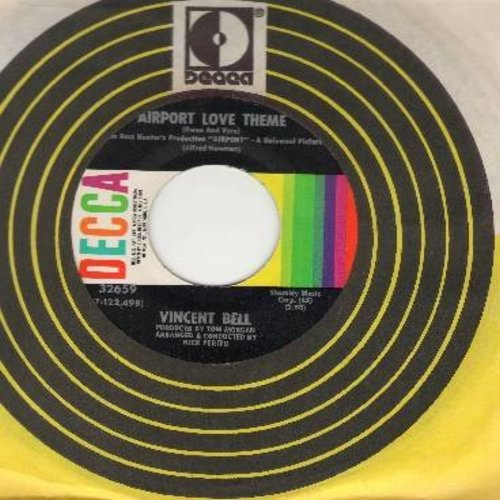 Bell, Vincent - Airport Love Theme/Marilyn's Theme (with Decca company sleeve) - EX8/ - 45 rpm Records