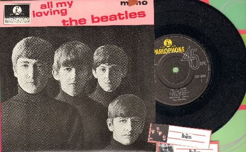 Beatles - All My Loving/Ask Me Why/Money/P.S. I Love You (vinyl EP record with picture cover, British Pressing) - NM9/NM9 - 45 rpm Records