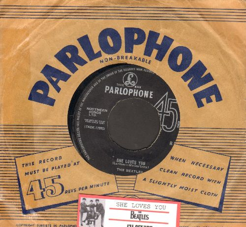Beatles - She Loves You/I'll Get You (BRITISH Pressing with juke box label) - VG7/ - 45 rpm Records