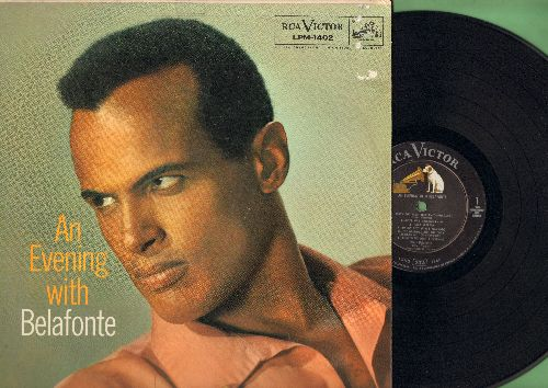 Belafonte, Harry - An Evening With Belafonte: Shenandoah, Mary's Boy Child, Danny Boy, Hava Nageela, Merci Mon Dieu (Vinyl MONO LP record) - EX8/VG7 - LP Records