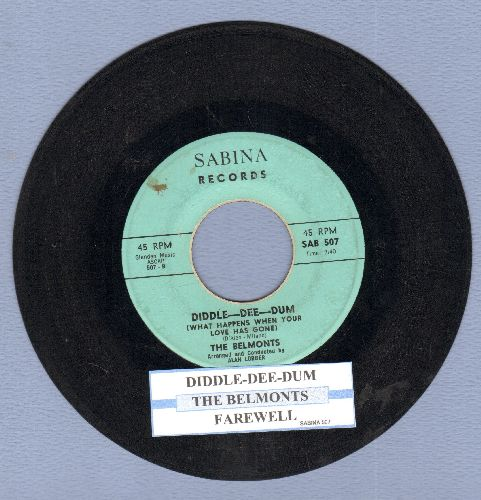 Belmonts - Diddle-Dee-Dum/Farewell (with juke box label) - EX8/ - 45 rpm Records