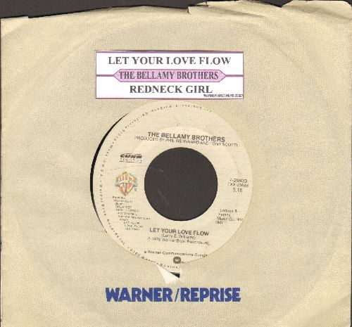 Bellamy Brothers - Redneck Girl/Let Your Love Flow (double-hit re-issue with juke box label and company sleeve) - NM9/ - 45 rpm Records