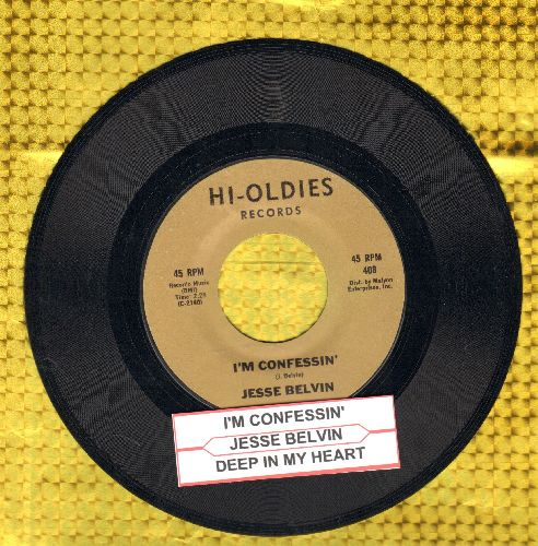 Belvin, Jesse - I'm Confessin'/Deep In My Heart (double-hit re-issue with juke box label) - NM9/ - 45 rpm Records