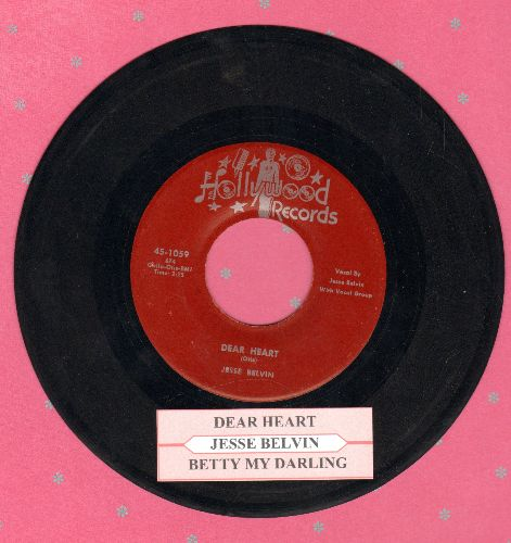 Belvin, Jesse - Dear Heart/Betty My Darling  (authentic-looking re-issue of vintage R&B classic with juke box label) - EX8/ - 45 rpm Records