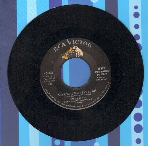 Belvin, Jesse - Something Happens To Me/The Door Is Wide Open (Vintage R&B 2-sider) - VG7/ - 45 rpm Records