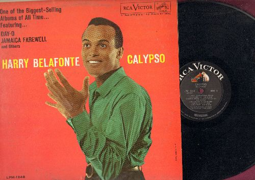 Belafonte, Harry - Calypso: Day O, Jamaica Farewell, Sta O, Man Smart (Woman Smarter), Will His Love Be Like His Rum? (vinyl MONO LP record) - EX8/EX8 - 45 rpm Records