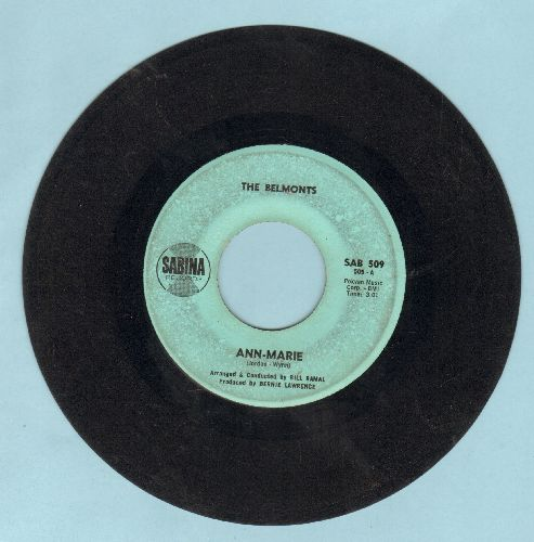 Belmonts - Ann-Marie/Ac-Cent-Tchu-Ate The Positive (minor wol) - VG7/ - 45 rpm Records