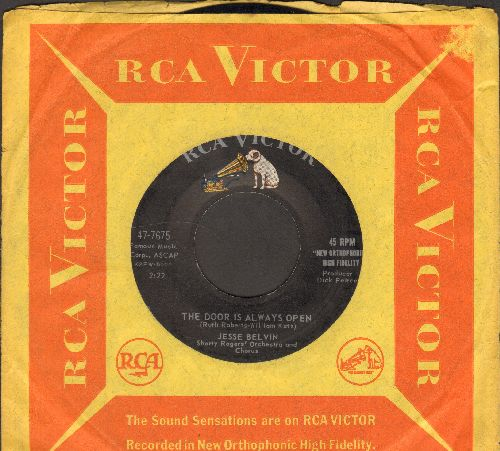 Belvin, Jesse - Something Happens To Me/The Door Is Wide Open (Vintage R&B 2-sider, with RCA company sleve) - NM9/ - 45 rpm Records