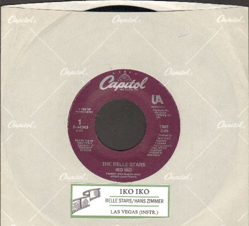 Belle Stars - Iko Iko (with Las Vegas, Theme from Rain Man, by Hans Zimmer on flip-side  (with juke box label and Capitol company sleeve) - NM9/ - 45 rpm Records