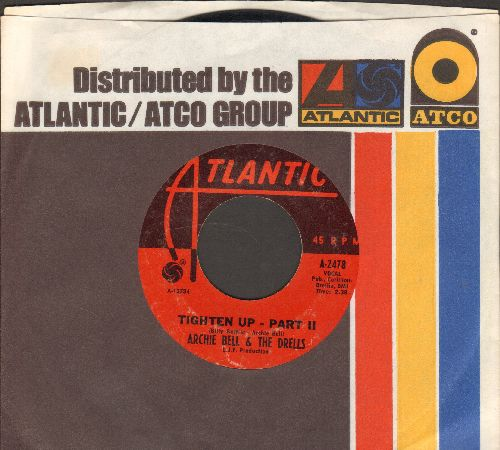 Bell, Archie & The Drells - Tighten Up (Parts 1 + 2) (with Atlantic company sleeve) (sol) - EX8/ - 45 rpm Records