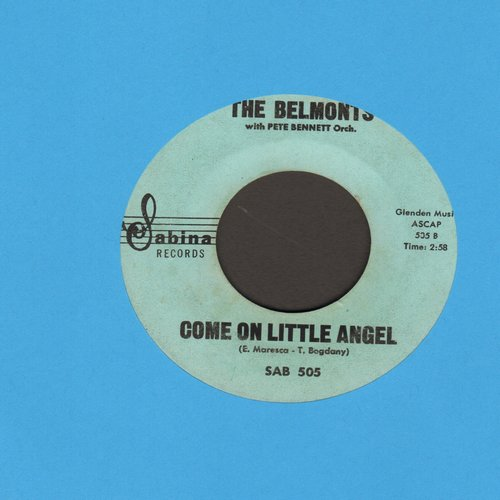Belmonts - Come On Little Angel/How About Me  - VG7/ - 45 rpm Records