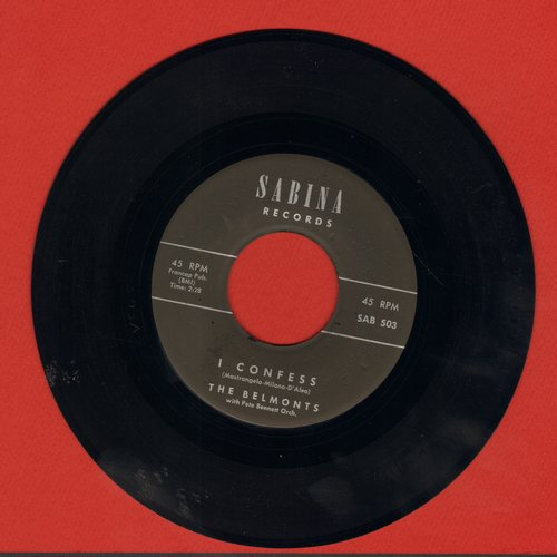 Belmonts - I Confess/Hombre - NM9/ - 45 rpm Records