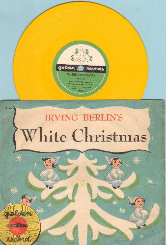 Hanley, Peter, The Sandpipers, Mitchell Miller & Orchestra - Irving Berlin's White Christmas - RARE 5 inch 78rpm Little Golden Record with picture sleeve - EX8/EX8 - 78 rpm
