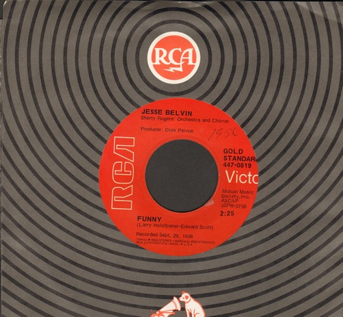Belvin, Jesse - Guess Who/Funny (authentic-looking double-hit re-issue) - EX8/ - 45 rpm Records