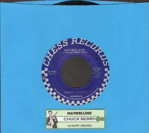 Berry, Chuck - Maybelline/Almost Grown (double-hit re-issue with juke box label) - EX8/ - 45 rpm Records