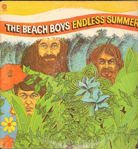 Beach Boys - Endless Summer: Purple Label 1980s re-issue of the Beach Boys' Greatest Hits on 2 vinyl LP records. Includes Surfin' Safari, Surfer Girl, Surfin' USA, Be True To Your School, I Get Around, Wendy, Don't Worry Baby, California Girls, Help Me Rh