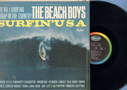 Beach Boys - Surfin' USA: Misirlou, Shut Down, Noble Surfer, Let's Go Trippin', Finders Keepers, Honky Tonk. Lana (Vinyl MONO LP record) - VG7/VG7 - LP Records