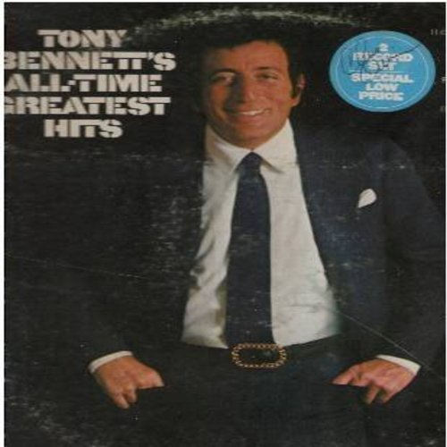 Bennett, Tony - Tony Bennett's All-Time Greatest Hits: I Left My Heart In San Francisco, Boulevard Of Broken Dreams, Something, Put On A Happy Face, Rags To Riches (2 vinyl LP record set, gate-fold cover) - NM9/VG7 - LP Records