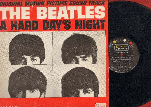 Beatles - A Hard Day's Night: Tell Me Why, I Should Have Known Better, Can't Buy Me Love, And I Love Her, I'm Happy Just To Dance With You (Vinyl MONO LP record) - VG7/VG7 - LP Records