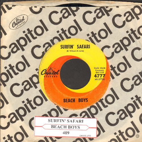 Beach Boys - Surfin' Safari/409 (with Capitol company sleeve and juke box label) - VG7/ - 45 rpm Records