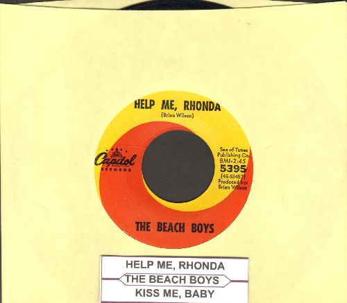 Beach Boys - Help Me, Rhonda/Kiss Me, Baby (with juke box label) - EX8/ - 45 rpm Records