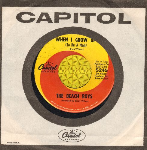 Beach Boys - When I Grow Up (To Be A Man)/She Knows Me Too Well (with Capitol company sleeve) - VG7/ - 45 rpm Records