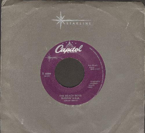Beach Boys - Surfin' U.S.A./Shut Down (purple label re-issue) - EX8/ - 45 rpm Records