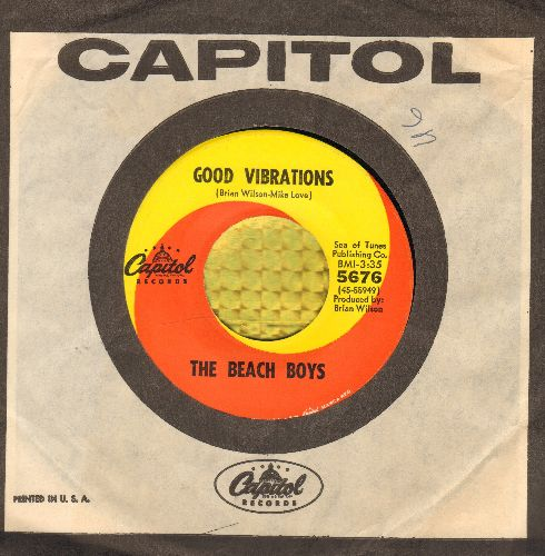 Beach Boys - Good Vibrations/Let's Go Away For Awhile (with Capitol company sleeve) - EX8/ - 45 rpm Records