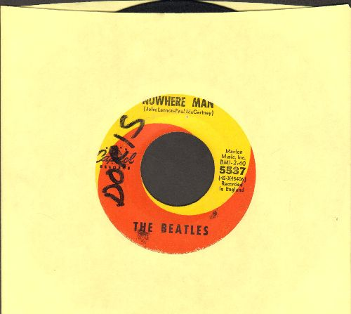 Beatles - Nowhere Man/What Goes On (wol) - VG7/ - 45 rpm Records
