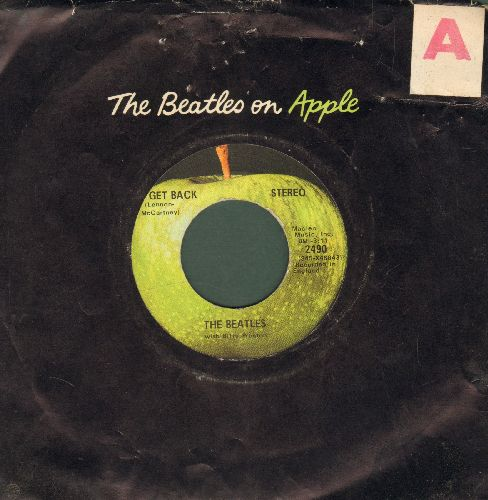 Beatles - Get Back/Don't Let Me Down (with Apple company sleeve (sos) - EX8/ - 45 rpm Records