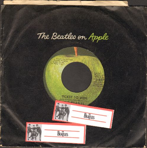 Beatles - Ticket To Ride/Yes It Is (with vintage Apple company sleeve) - VG7/ - 45 rpm Records